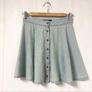 Brandy Melville Chambray Brya Button Front Skirt